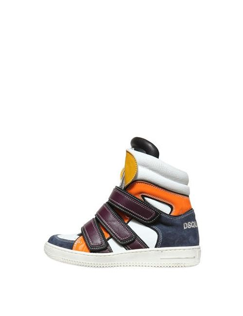 Dsquared2   Многоцветный Leather Suede High Top Sneakers