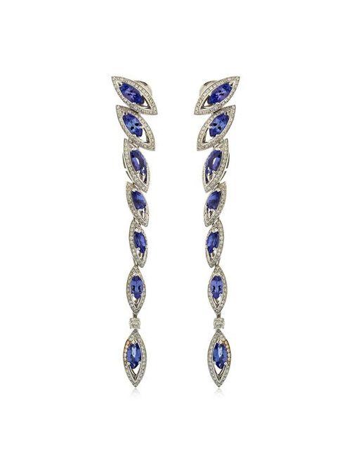 NIQUESA | Синий Petali Damore Drop Earrings