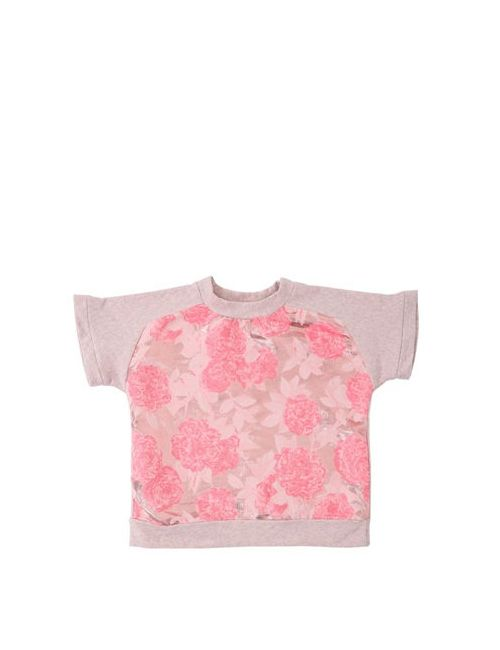 ANNE KURRIS | Розовый Lurex Jacquard Cotton Sweatshirt