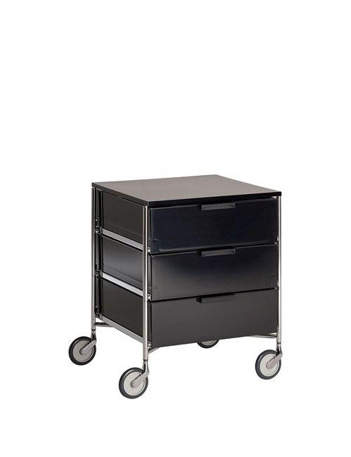 Kartell | Чёрный Mobile Cabinet With Wheels