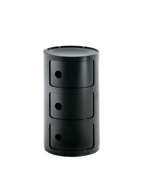 Kartell   Черный 3 Elementi Container