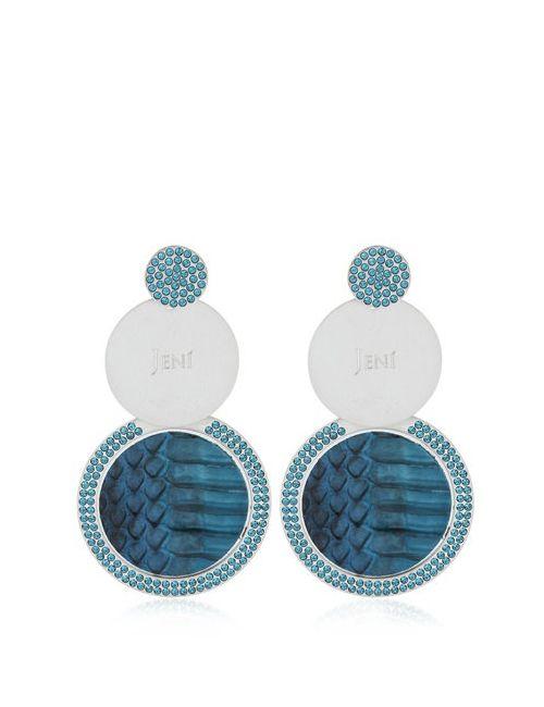 JENÌ   Синий Kemir Earrings
