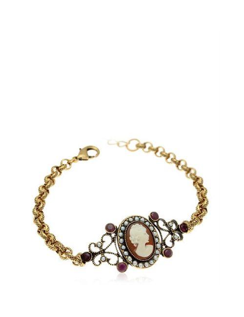 ALCOZER & J. | Золотой Cameo Chain Bracelet