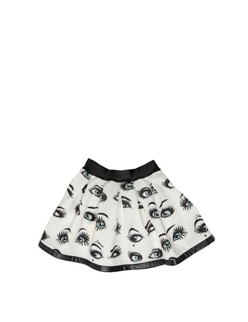 JAKIOO | Чёрный Eyes Printed Pleated Skirt