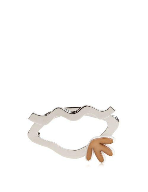 Maison Margiela | Серебристый Lips Brass Plexiglas Pin