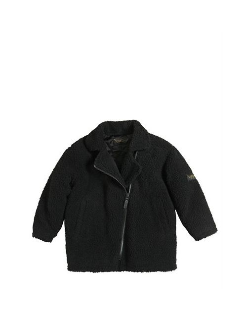FINGER IN THE NOSE | Чёрный Faux Shearling Quilted Coat