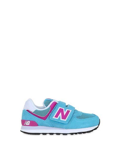 New Balance | Фиолетовый 574 Suede Mesh Sneakers