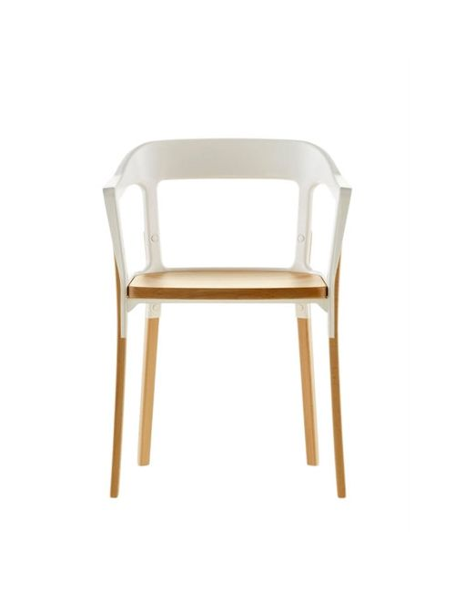 MAGIS | Белый Steelwood Armchair