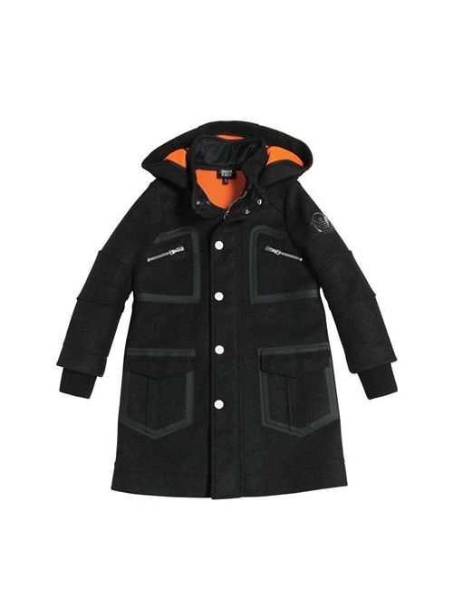 Armani Junior   Чёрный Felt Wool Mesh Coat