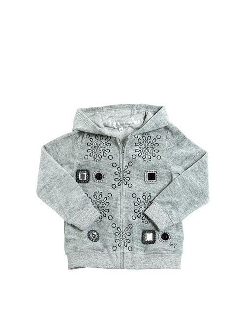 Little Marc Jacobs | Серый Hooded Cotton Chenille Sweatshirt