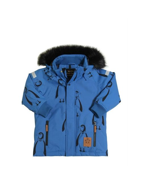 Mini Rodini | Синий Waterproof Penguin Nylon Ski Jacket