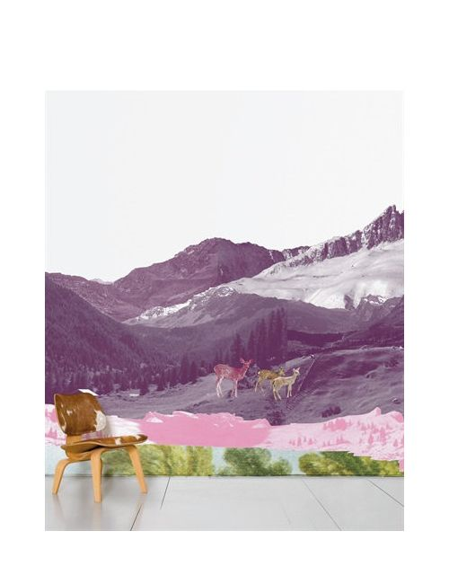 DOMESTIC | Multi Mont Rose Printed Wallpaper
