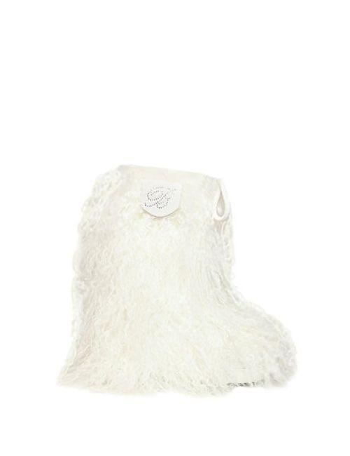 Miss Blumarine | Белый Mongolia Fur Boots