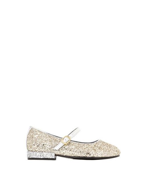 Simonetta | Золотой Maxi Glittered Leather Mary Janes