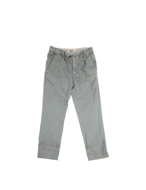 NUPKEET | Серый Slim Fit Striped Cotton Canvas Pants