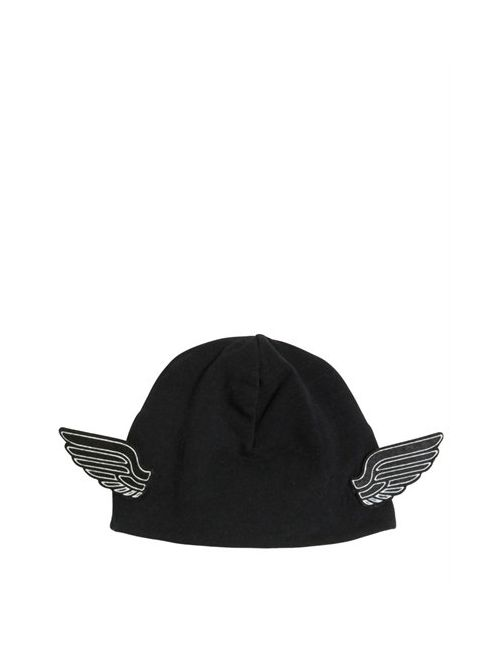 YPORQUÉ | Чёрный Doubled Cotton Jersey Hat W/ Wings
