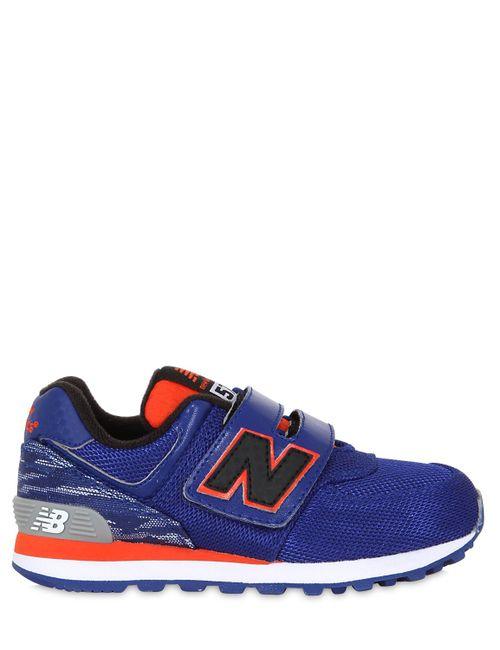 New Balance | Синий Mesh Leather Running Sneakers