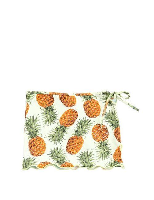 SELINI ACTION | Желтый Pineapple Printed Stretch Nylon Skirt