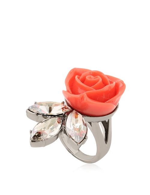 Mawi | Rose Crystal Leaf Ring