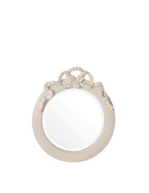 SAVIO FIRMINO | Cream Hand Carved Wood Mirror