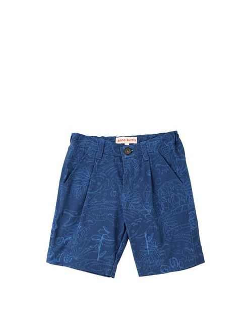 ANNE KURRIS | Синий Printed Cotton Gabardine Shorts