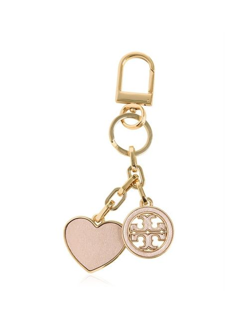 Tory Burch | Blush Logo And Heart Key Holder