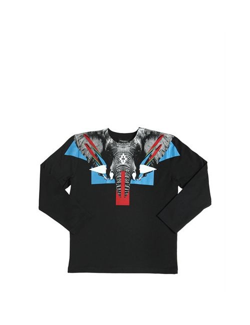 MARCELO BURLON COUNTY OF MILAN | Чёрный Elephant Printed Cotton Jersey T-Shirt