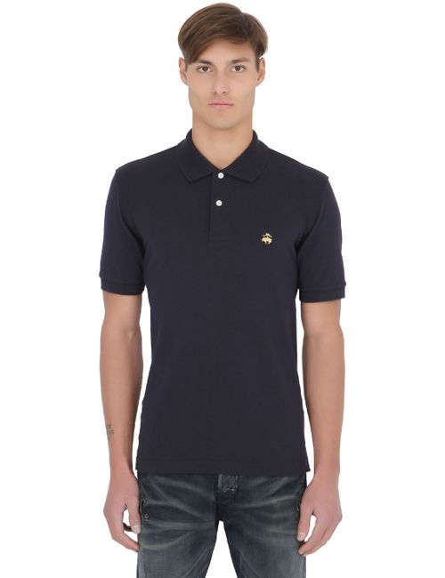 Brooks Brothers | Navy Extra Slim Cotton Piqué Polo