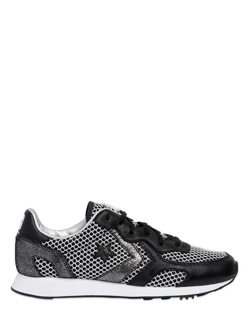 Converse | Черный Auckland Racer Mesh Leather Sneakers