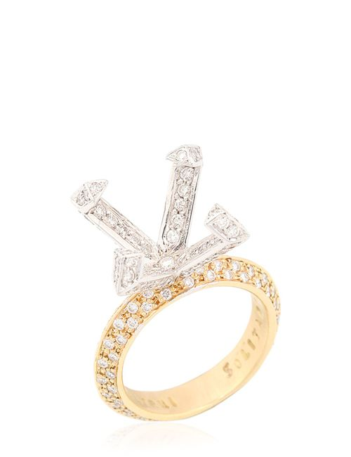 CRISTIANO PAGNINI | Золотой Solitaire Setting Diamonds Ring