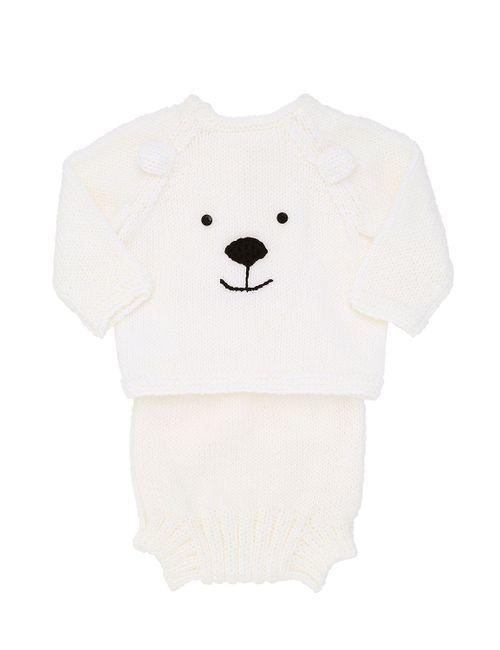 ETCÌ   Белый Handmade Wool Sweater Diaper Cover