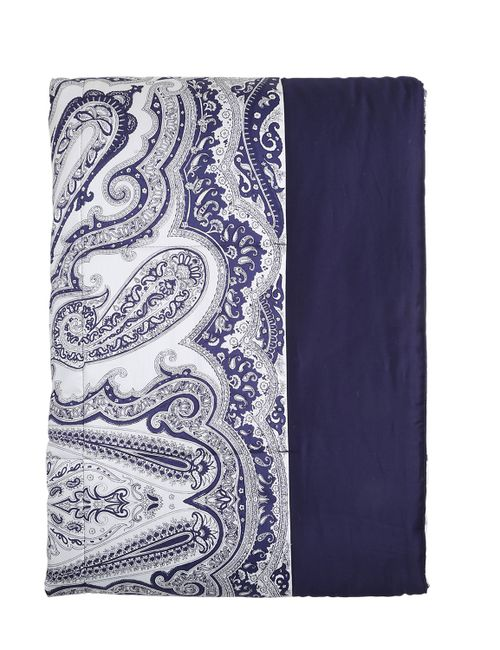Etro | Синий Klondike Paisley Print Cotton Bedspread