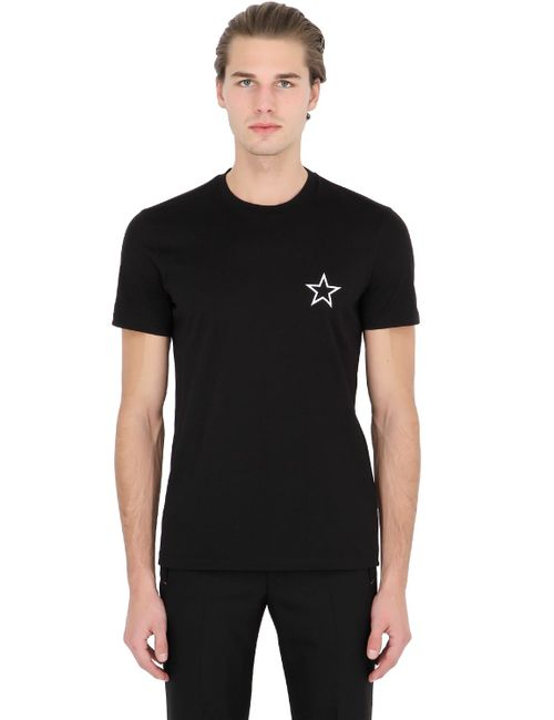 Givenchy   Чёрный Cuban Star Printed Cotton Jersey T-Shirt