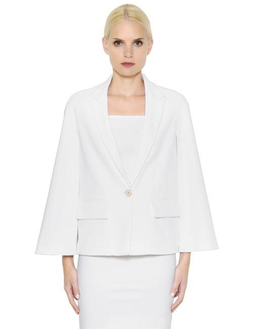 Givenchy | Белый Stretch Viscose Cady Cape Jacket