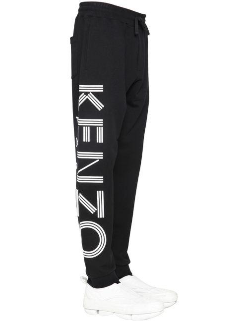 Kenzo | Чёрный Logo Printed Cotton Jogging Pants