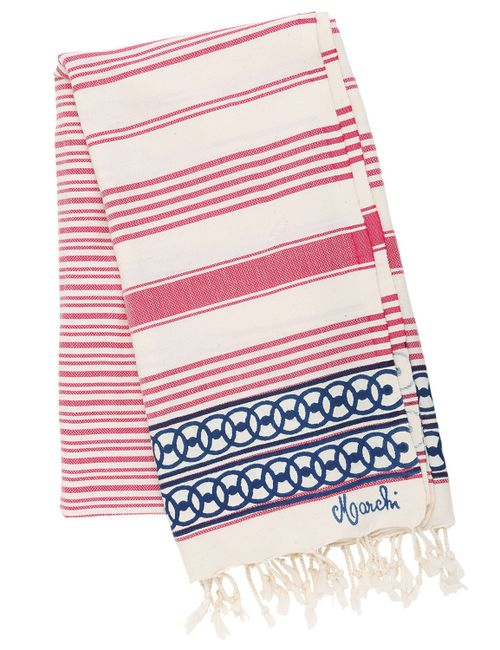 LES OTTOMANS | Красный Hammam Telati Cotton Towel