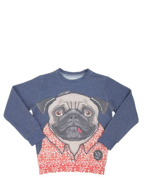 Madson Discount | Красный Pug Printed Cotton Blend Sweatshirt