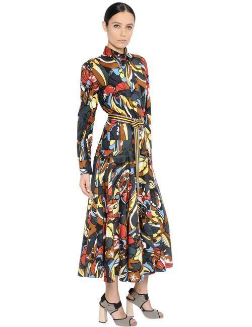 Marni | Многоцветный Floral Printed Cotton Poplin Shirt Dress
