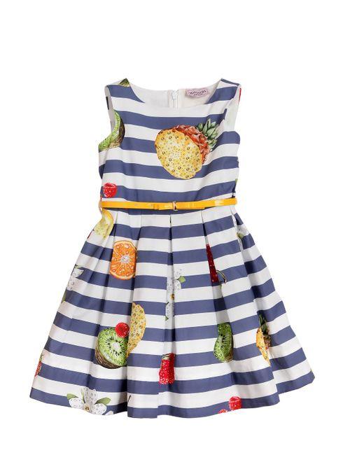 Mona Lisa | Многоцветный Fruit Printed Cotton Poplin Dress