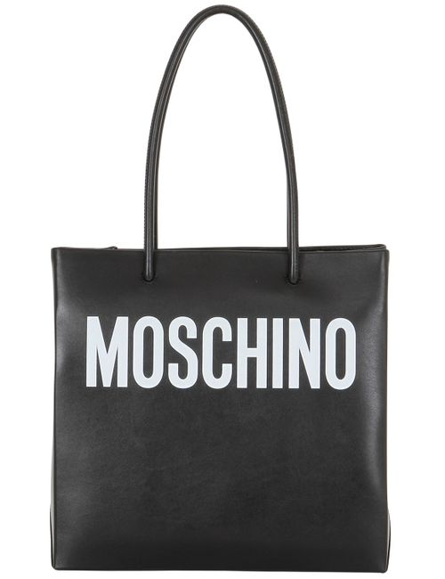 Moschino | Чёрный Logo Shopping Nappa Leather Tote