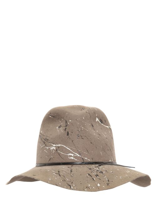 Move | Серый Splatter Painted Wool Felt Hat