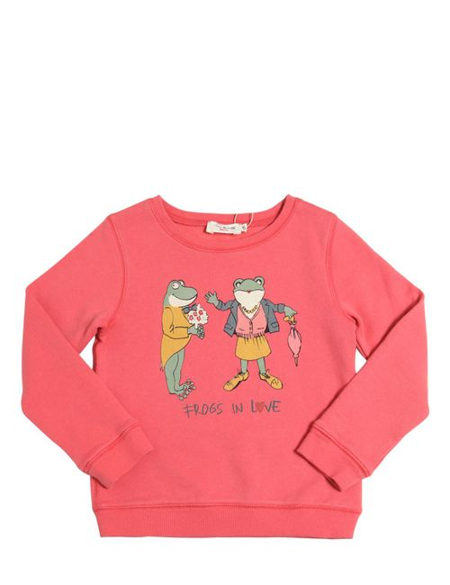 Nice Things Mini | Розовый Frogs In Love Print Cotton Sweatshirt