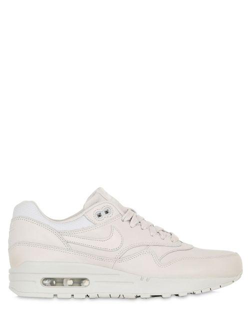 Nike | Light Bone Air Max 1 Pinnacle Leather Sneakers