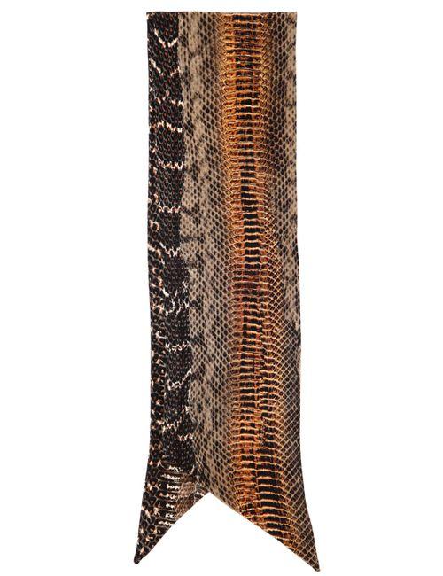 Roberto Cavalli | Коричневый Bantu Printed Silk Neck Scarf