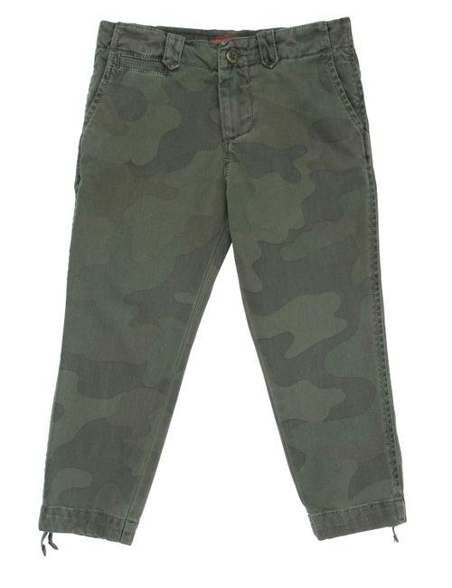 THE RAJ OF INDIA | Зелёный Camo Stretch Cotton Gabardine Pants