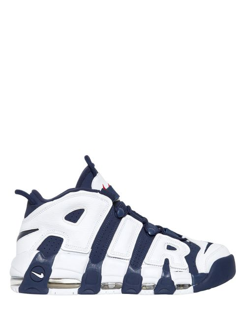 Nike | Белый Air More Uptempo Leather Sneakers