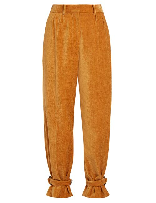 HILLIER BARTLEY | Женское Camel Strap-Hem Chenille Trousers