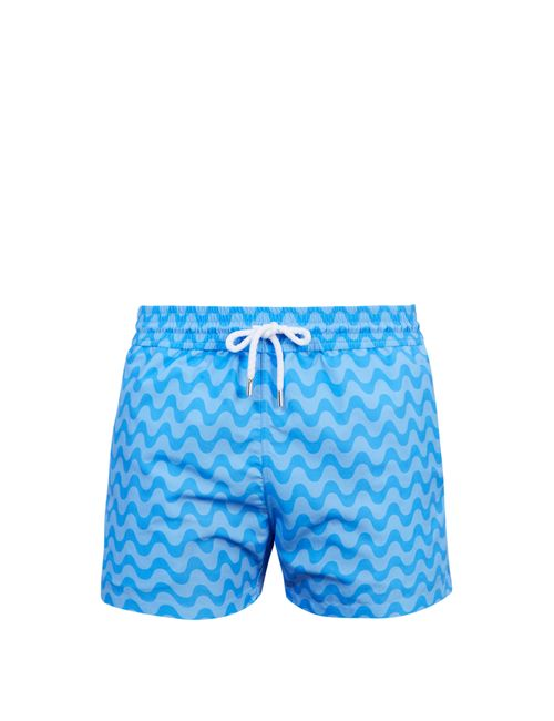 FRESCOBOL CARIOCA | Мужское Голубой Sports Copacabana-Print Swim Shorts