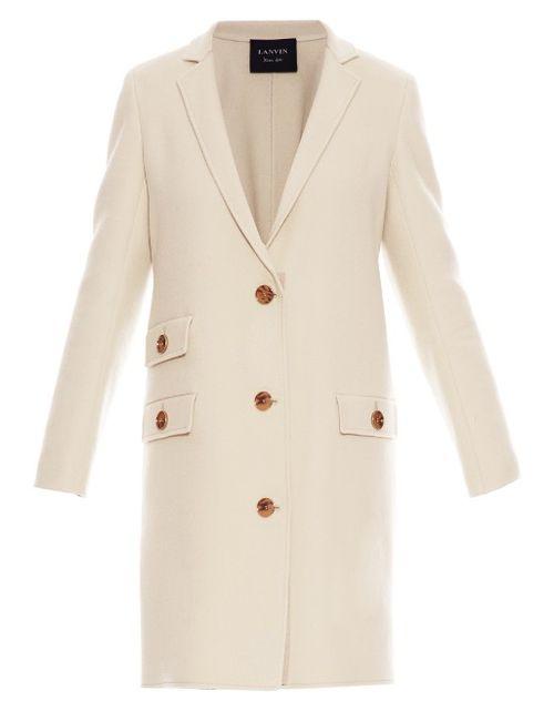 Lanvin | Женское Бежевый Notch-Lapel Wool Coat