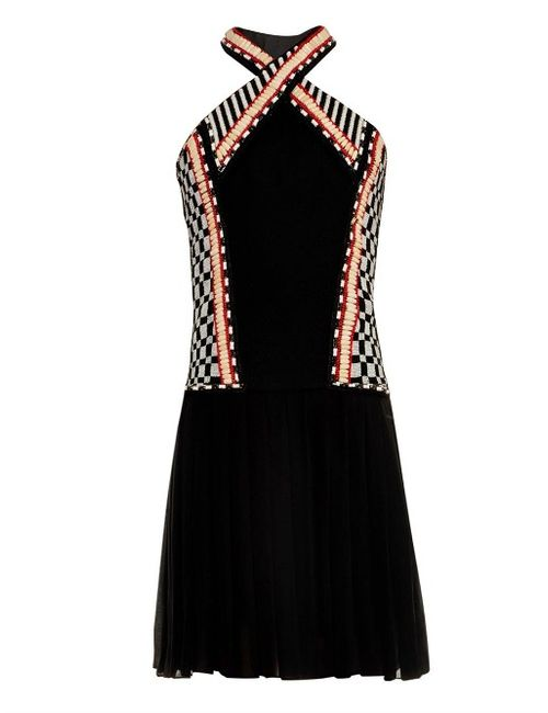 Balmain | Женское Чёрный Halterneck Embellished Dress